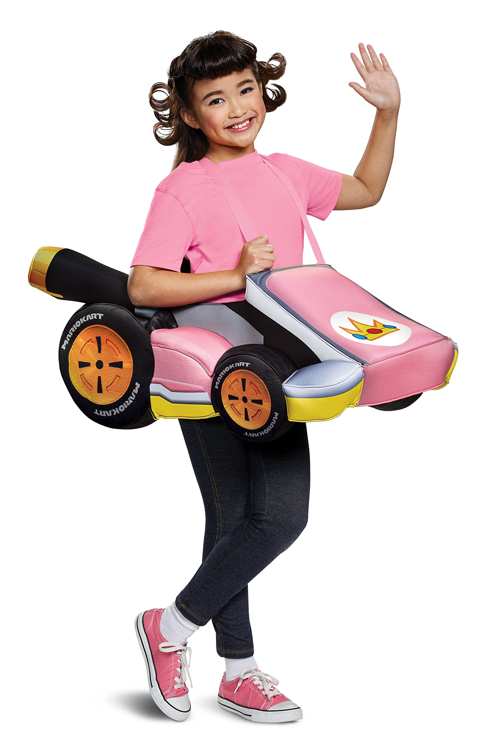 Disguise Peach Kart Costume, One Size Child