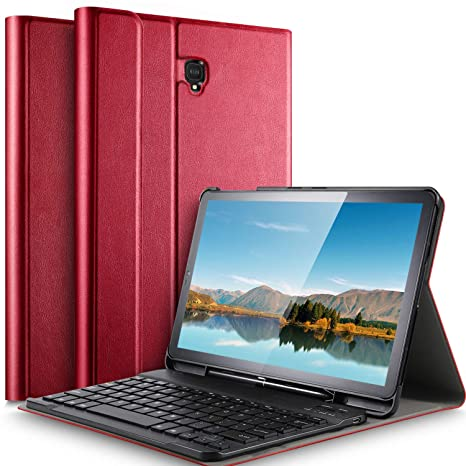 IVSO Samsung Galaxy Tab S4 10.5 Case with Keyboard - Detachable Wireless Keyboard Front Prop Stand