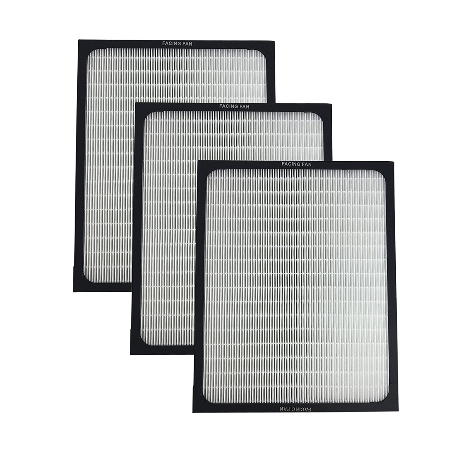 3 Air Purifier Filters fit ALL Blueair 200 & 300 Series Models 201, 210B, 203, 250E,200PF, 201PF, Designed & Engineered by Crucial Air Crucial Vacuum
