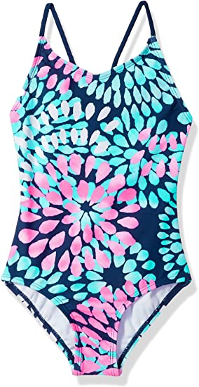 Kanu Surf Girls' Daisy Beach Sport one-Piece Swimsuit