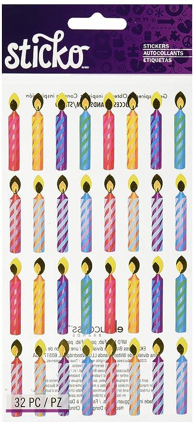 Amazon.com: Sticko pegatinas – Velas de cumpleaños Foil ...