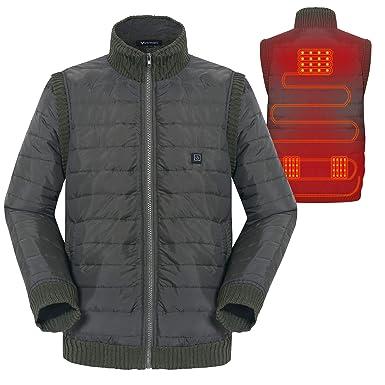 Kleidung Warm für Leichter Ärmel Frauen Winter Electric Jacke Abnehmbarer Beheizte Beheizter Einstellbar Design Waschbar USB Lade Vinmori Größe H9YIDWE2
