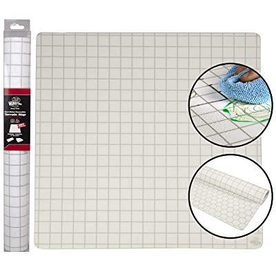 "Double-Sided Role Playing RPG Game Mat- Reversible Silicone Battle Matte Grid w Hexes and Squares- XL 20""x20""-Foldable, Rollable, Wet and Dry Erase - Made For D&D Dungeons Dragons, Pathfinder and More: Toys & Games"