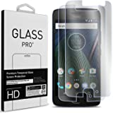 Moto G5 Tempered Glass Screen Protector, Moto G 5th Generation Screen Protector, CoverON Premium Grade 9H Clear Slim Screen Protectors with Bubble-Free Installation Kit [Case Friendly] Clear