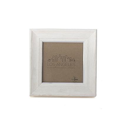 Amazon 4x4 Picture Frame Ivory Silver Mount Desktop Display
