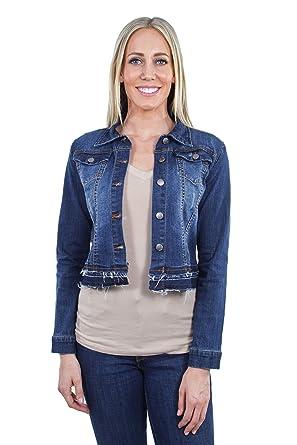 NEW Women/'s Long Sleeve Basic Denim Jean Jacket-JR.SIZE S-3XL