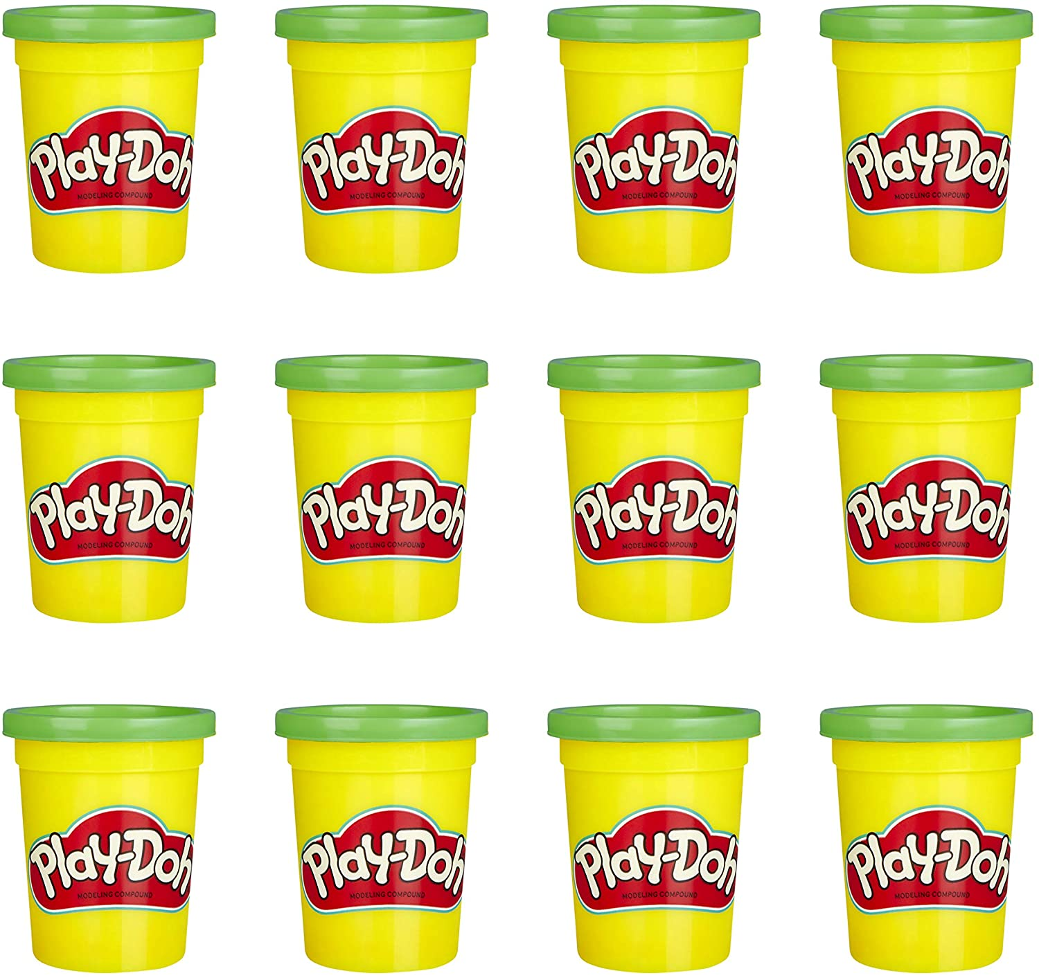 Play-Doh Bulk 12-Pack of Green Non-Toxic Modeling Compound, 4-Ounce Cans