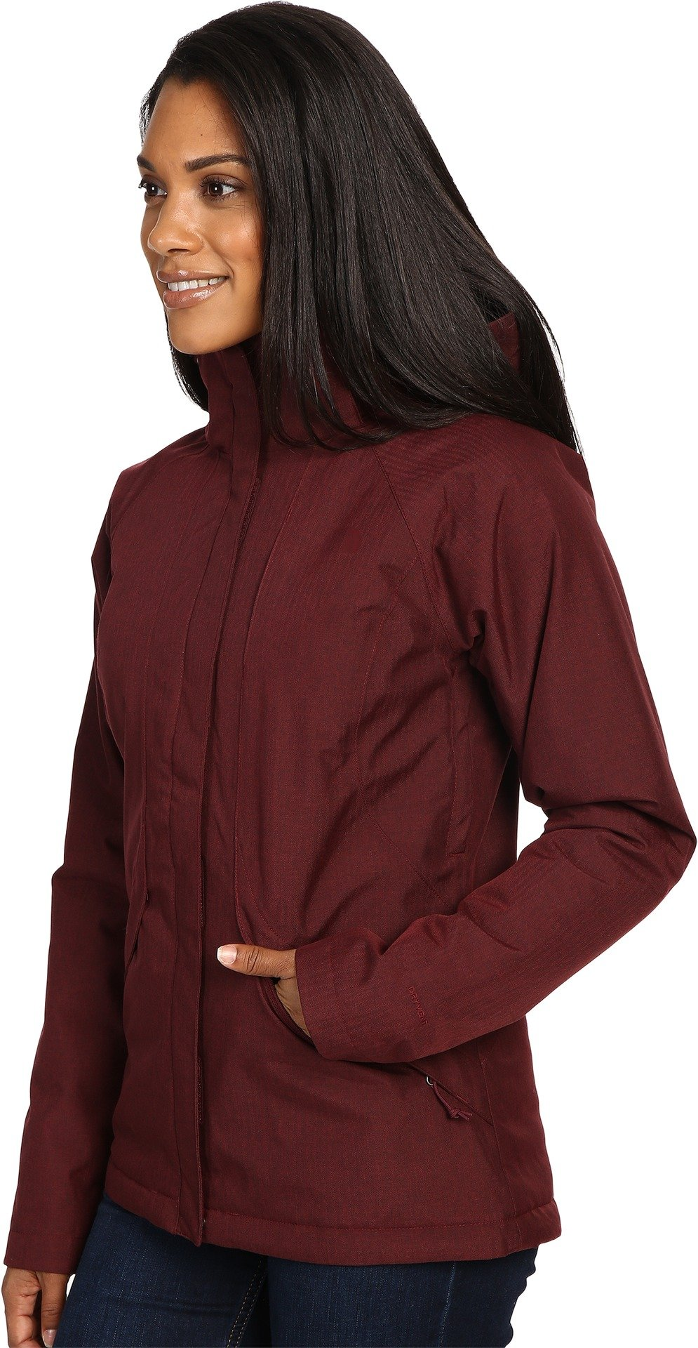 The North Face Women's Inlux Insulated Jacket Deep Garnet Red Heather (Prior Season) X-Small by The North Face (Image #2)