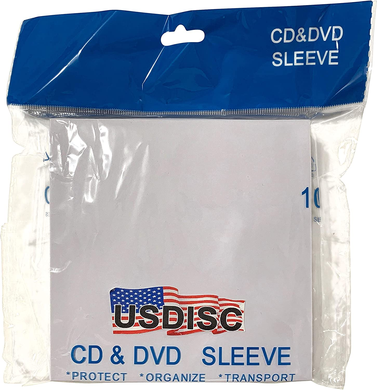 USDISC Paper Sleeves 100g Window Pack of 100 Flap Yellow