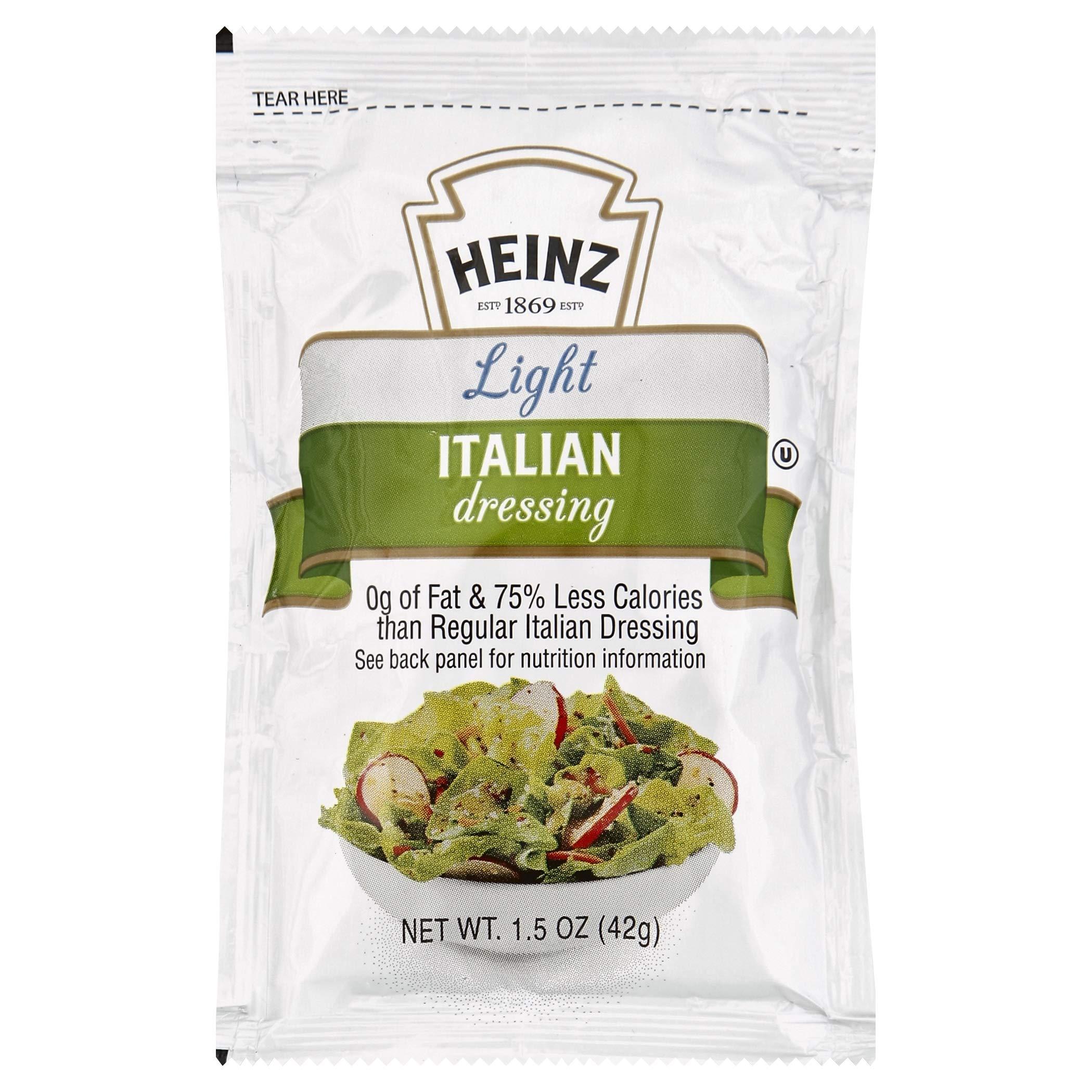 Heinz Light Italian Dressing Single Serve (1.5oz Packets, Pack of 60)