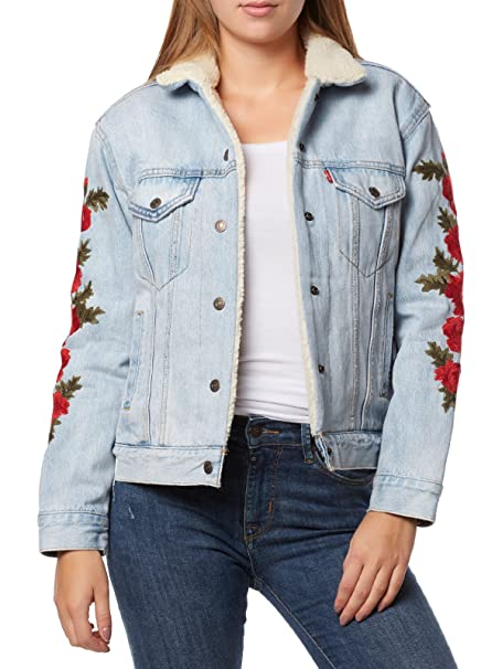 Levis ® EX-BF Sherpa Trucker W Chaqueta vaquera roses package