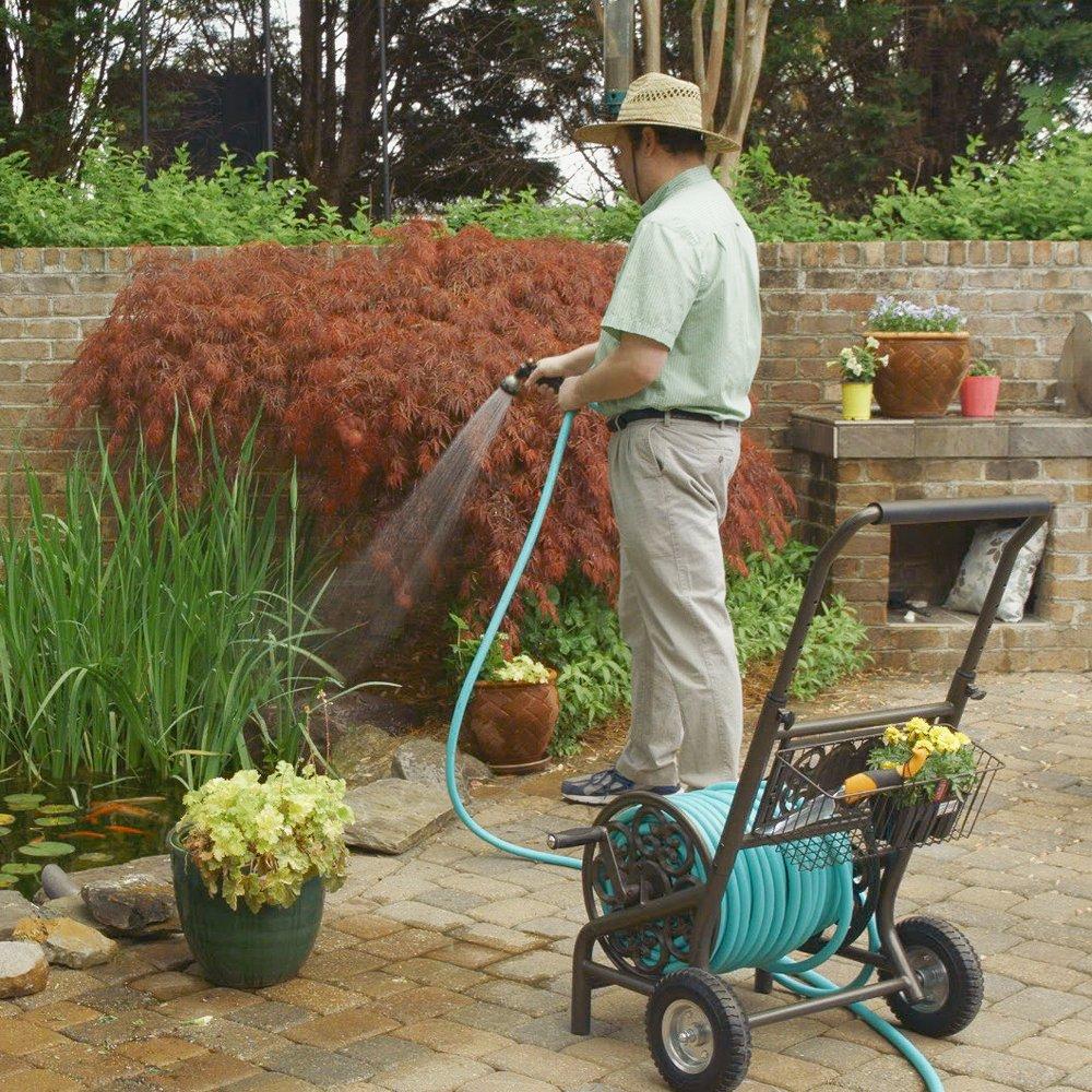 Liberty Garden 301 Decorative Two Wheel Hose Cart, Bronze: Amazon.ca ...