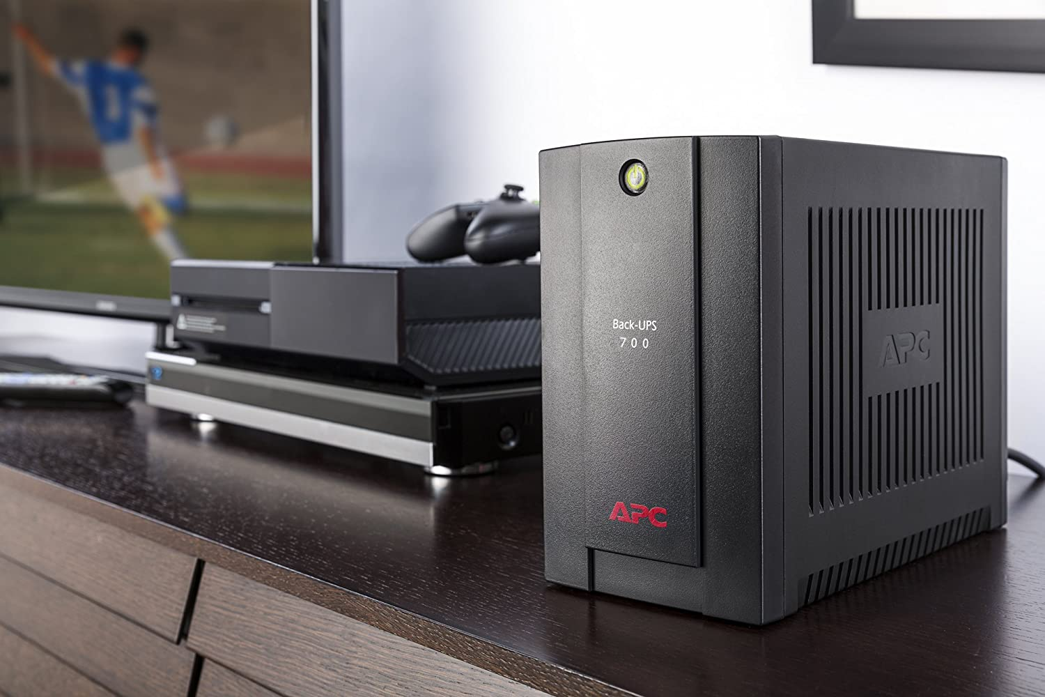 Tower Black uninterruptible power supply s UPS APC Back-UPS Line-Interactive 700VA 4AC outlet
