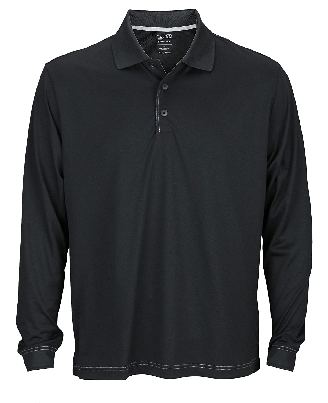 2d399c8a Amazon.com: adidas Men's ClimaCool Long Sleeve Pique Polo Shirt: Sports &  Outdoors