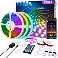 DDBox Music Sync Color Changing RGB LED Strip Lights 100-Ft Deals