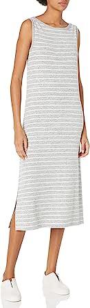 Daily Ritual Amazon Brand Women's Cozy Knit Sleeveless Bateau Neck Midi Dress