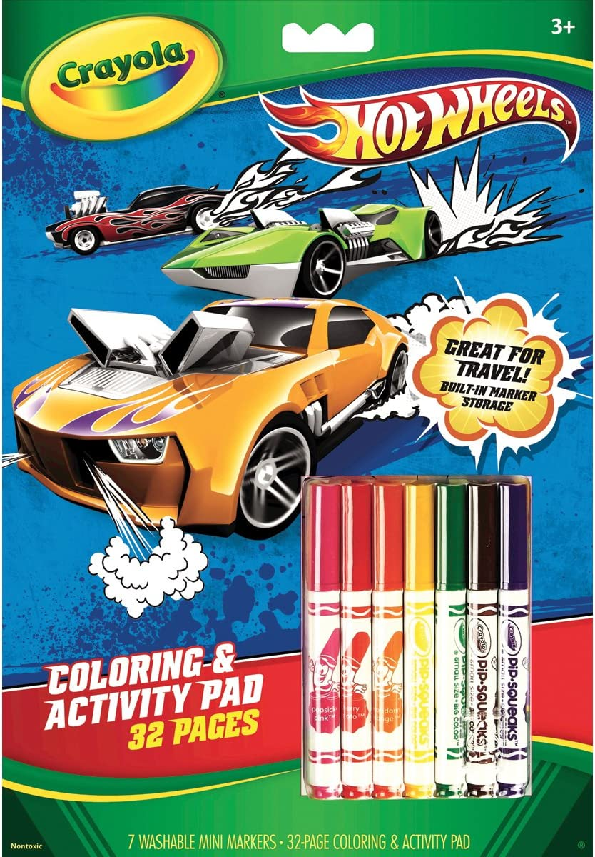 - Amazon.com: Crayola Hot Wheels Coloring And Activity Book With