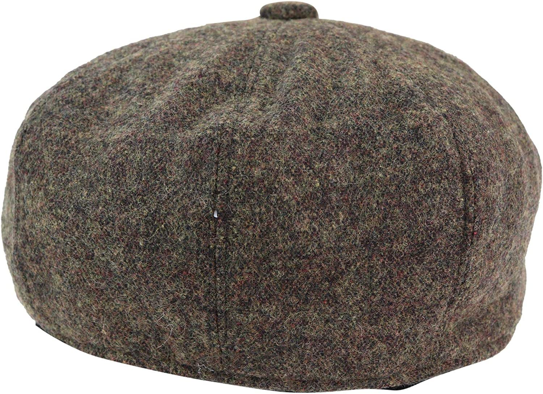 Herringbone 8 Piece Cap Baker Boy Paper Boy Peaky Blinders Hat