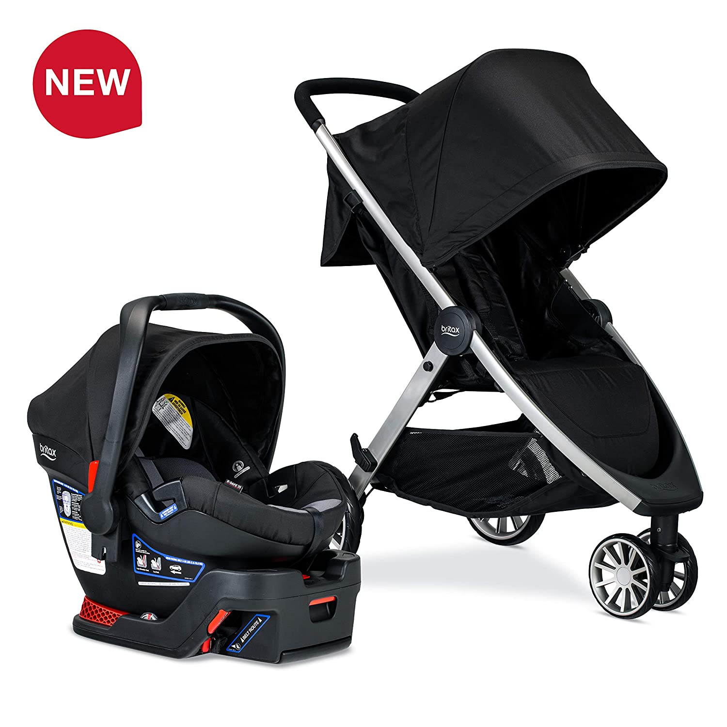Britax B-Lively Travel System with B-Safe 35 Infant Car Seat, Ashton - Birth to 55 pounds [Amazon Exclusive]