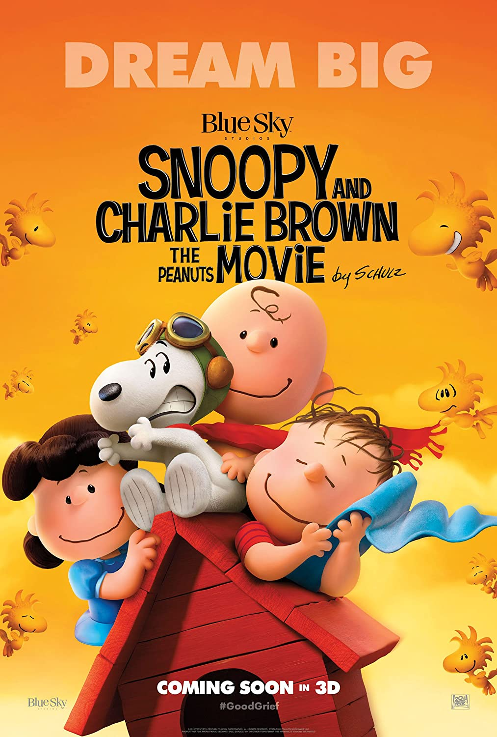 WMG The Peanuts Movie - Poster: (24 x 36 Inches) - Glossy Photo Paper (Thick 8 Mil), Snoopy, Charlie Brown