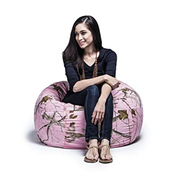Realtree Camo 3ft Bean Bag Chair By Jaxx, Pink