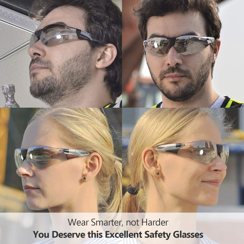 SAFEYEAR Schutzbrille Schie/ßbrille Arbeitsbrille SG002 Freizeitbrille Fahrradbrille mit Antikratz und Antibeschlag und premiumqualit/ät Baustelle Labor Solarium brillentr/äger schie/ßsport Chemie