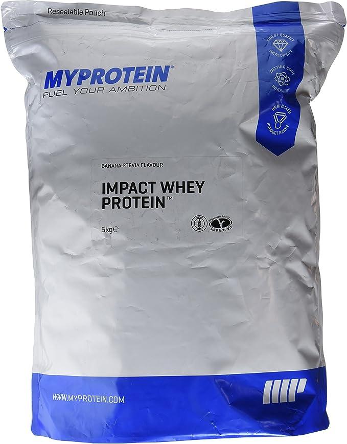 MyProtein Impact Whey Proteína de Suero, Sabor Stevia Plátano - 5000 gr