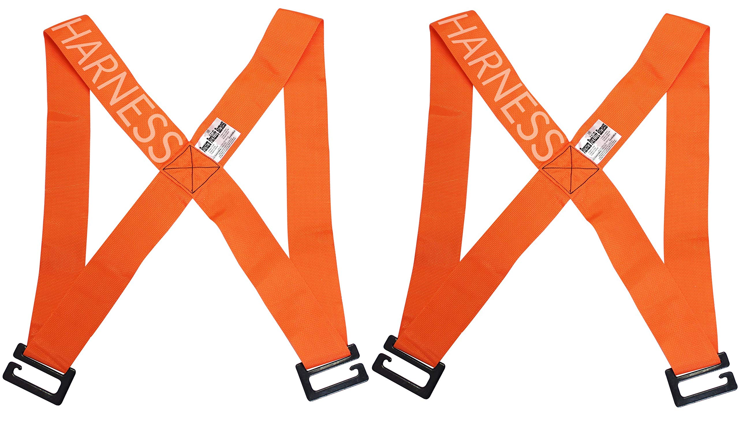Forearm Forklift FFH2 Harness 2 | Requires Lifting & Moving Straps (Sold Separately) | 2 Person System | Lift Like A PRO and Move Heavy Appliances | Rated Up to 800 Lbs, Orange