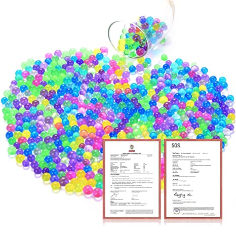 280fb697f Perlas de Agua Bolas de Agua de Gel 12 Paquetes,12 colores mezclados Para  Manualidad