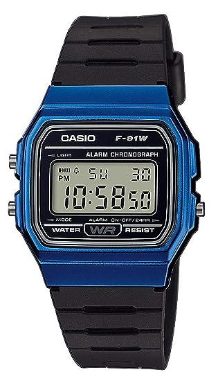 7392950ae90a Casio Reloj Digital para Unisex de Cuarzo con Correa en Resina F-91WM-2AEF   Amazon.es  Relojes