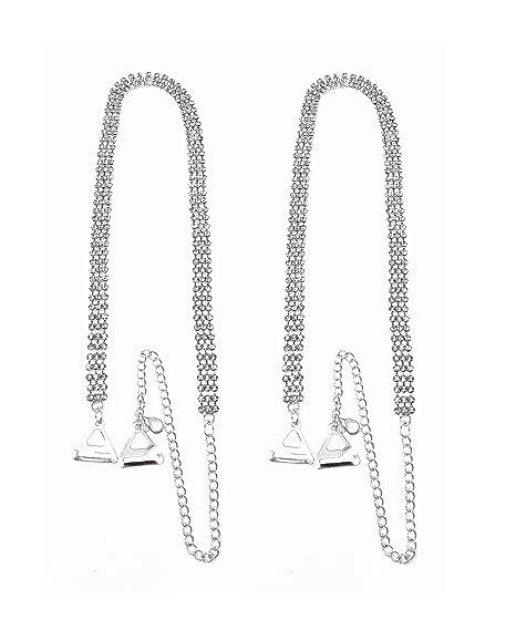 Tirantes para sujetador (3 filas, ajustables, cristales)