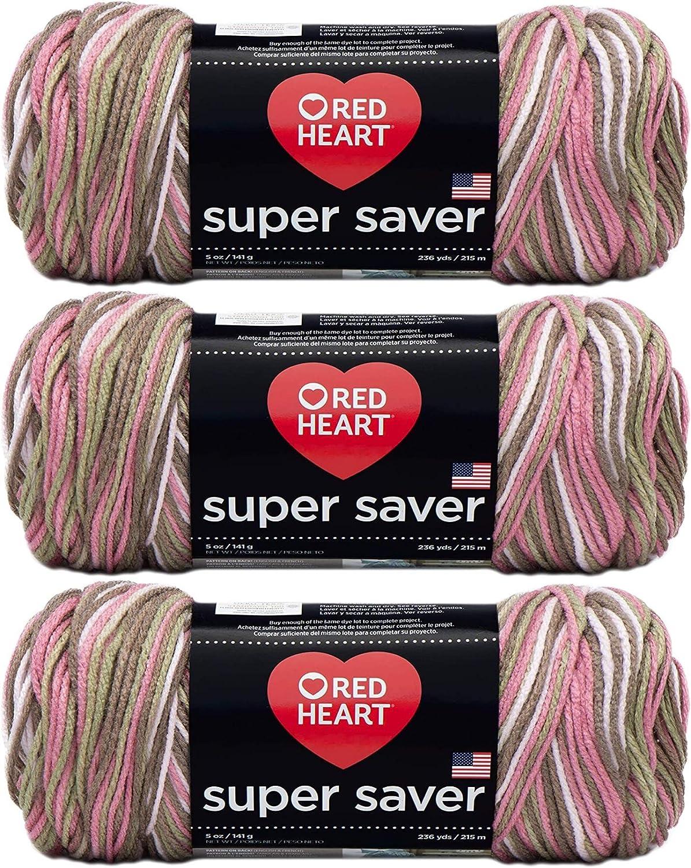 Red Heart E300-972 Red Heart Super Saver Yarn - Pink Camo3