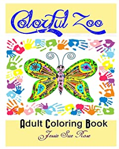Colorful Zoo Inspirational Adult Coloring Book Stress Relaxing Series 40 Awesome