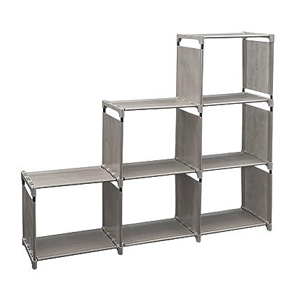 Genial Newdora 3 Tier Storage Cube Closet Organizer Shelf Cabinet Bookcase Shoe  Rack, 6 Cube Organizer