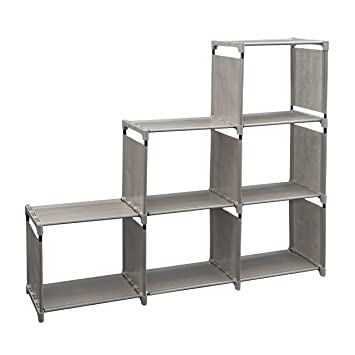 Newdora 3 Tier Storage Cube Closet Organizer Shelf Cabinet Bookcase Shoe  Rack, 6 Cube Organizer