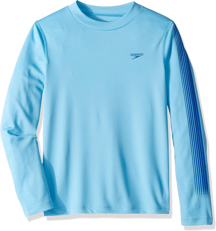 Speedo Boy's UV Swim Shirt Long Sleeve Tee Graphic