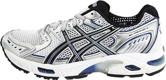 Amazon.com | ASICS Men's GEL-Evolution 5 Running Shoe, White/Black/Navy, 17  D US | Running