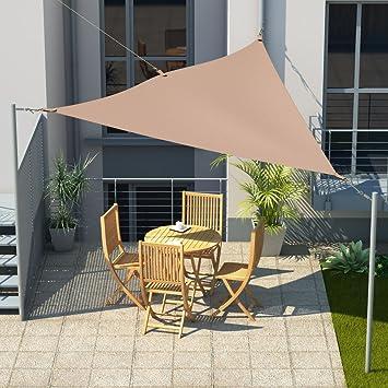 offizieller Preis attraktiver Stil erstklassig Amazon.de: MW Handel Sonnensegel Dreieck 3x3x3 m inkl ...