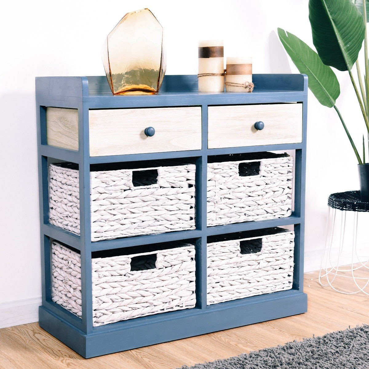 BESTChoiceForYou Cabinet Table Storage Side Wood Drawers Console Sideboard Cupboard W Furniture End Vidaxl White Baskets Drawer Door Home by BESTChoiceForYou (Image #3)