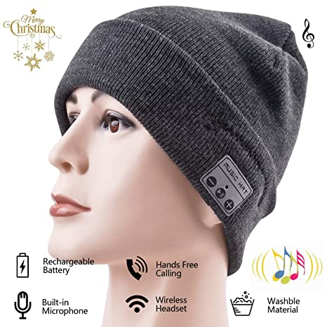 8c1134df1af Bluetooth Hat Bluetooth Beanie Smart Hat Built-in Stereo Speaker Mic  Wireless Headphones Beanie Sync