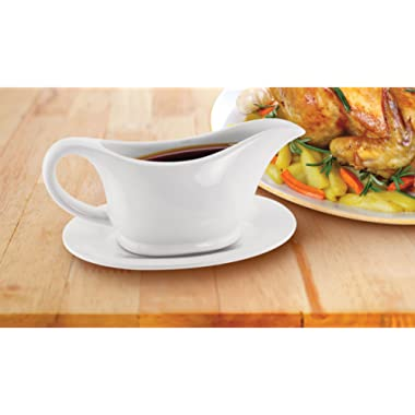 KOVOT Ceramic Dish (Gravy Boat And Tray)