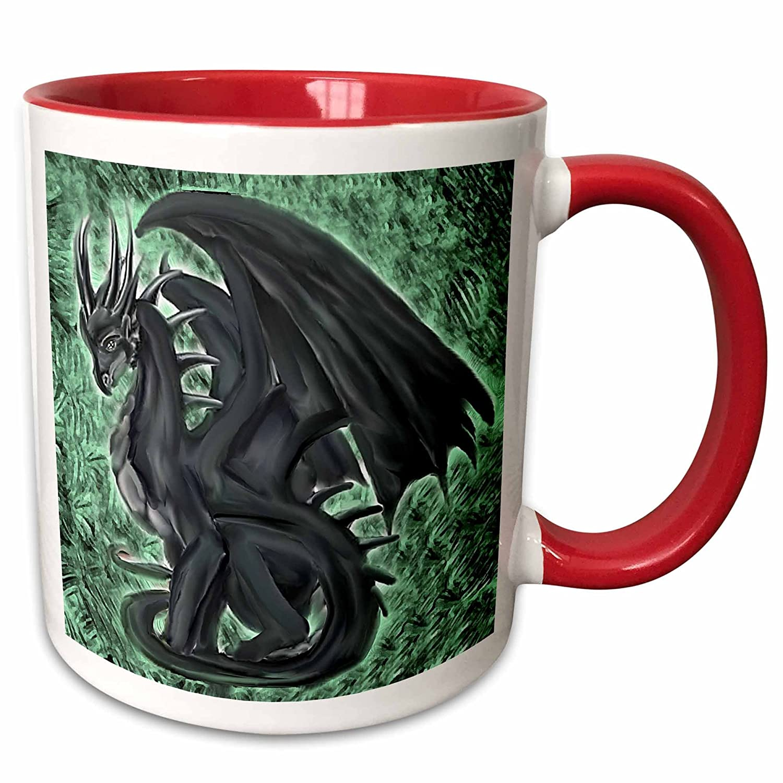 Multicolor 3dRose 4147/_2Night Dragon Ceramic Mug 15 oz