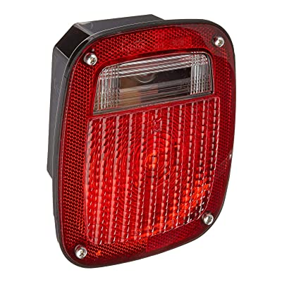 Grote 50942 Red Torsion Mount Three-Stud Navistar Volvo Stop Tail Turn Light (RH with License Window): Automotive
