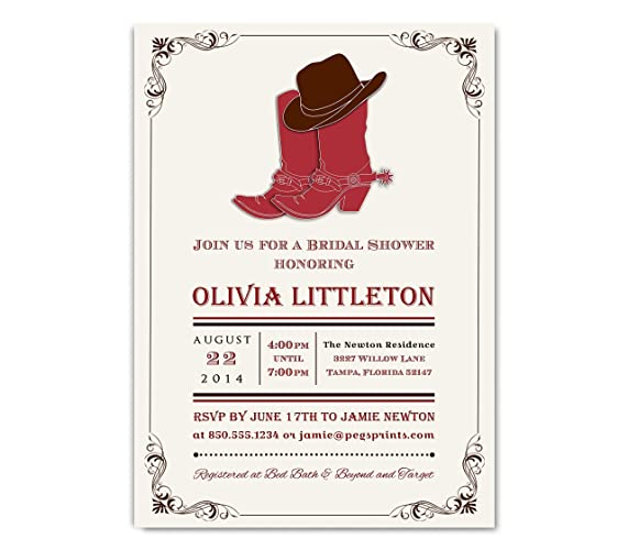 country bridal shower invitation country western bridal shower invite country shower invitations 5x7