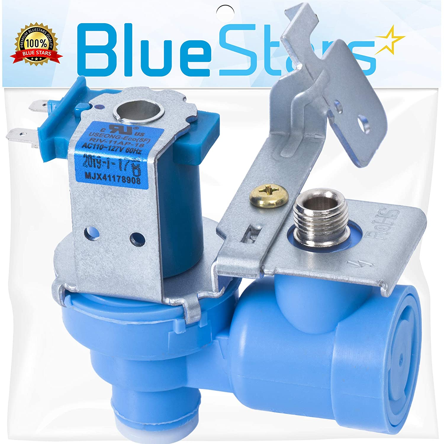 Ultra Durable MJX41178908 Refrigerator Water Valve Replacement Part by Blue Stars - Exact Fit for LG Refrigerators - Replaces AP4451762, PS3536019