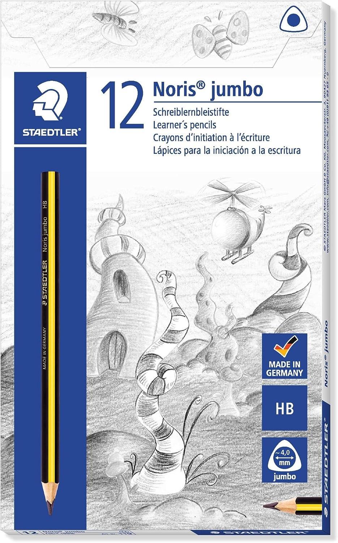 2 X Noris 119 Triplus Jumbo Learners Pencil HB Pack of 12