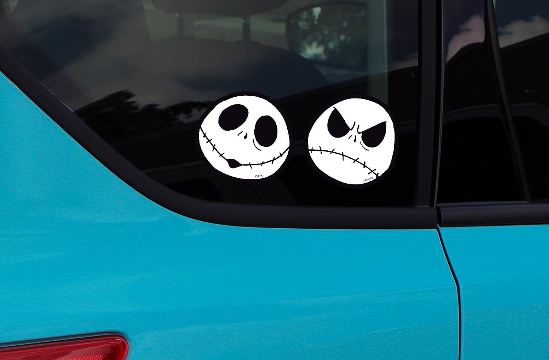 4pc window decal sticker nightmare before christmas jack skellington amazon co uk car motorbike