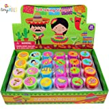 TINYMILLS 24 Pcs Fiesta Stampers for Kids