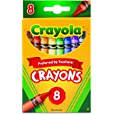 Crayola 523008 Classic Color Crayons, Peggable Retail Pack, Peggable Retail Pack, 8 Colors