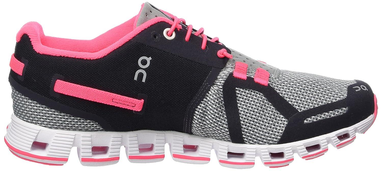 ON Women's Running Cloud Sneaker B01HNYDIUY 5 B(M) US|Grey/Neon Pink